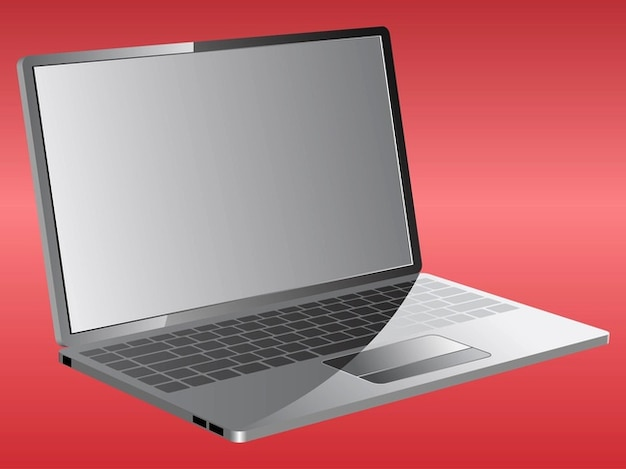 Portable laptop screen vector illustration