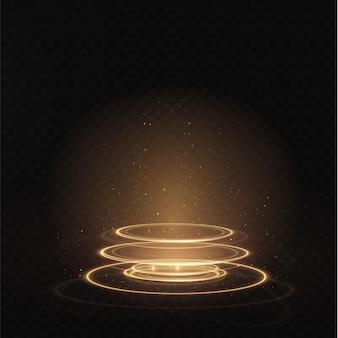 ポータルセットライトエフェクトホログラム