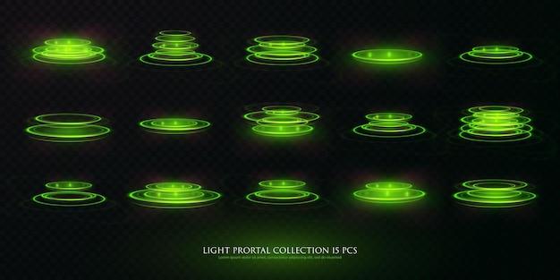 ポータルセット光効果ホログラム
