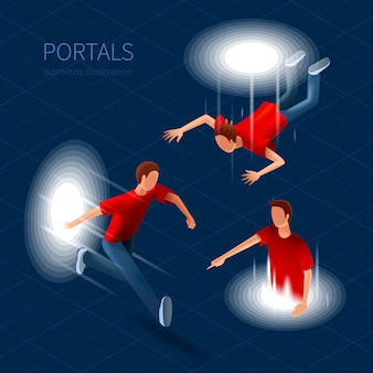 Portals icons set