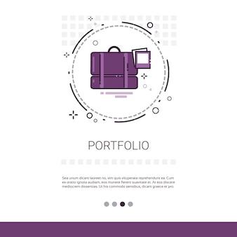 Portfolio case with document contract