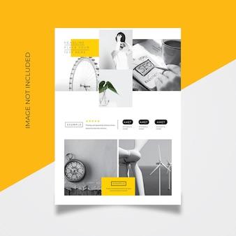 Portfolio flyer template