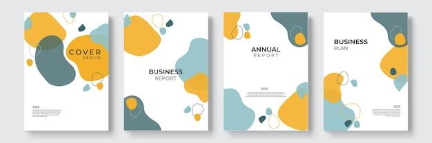 포트폴리오 기하학적 디자인 벡터 집합입니다. 표지 책 프레젠테이션에 추상 다채로운 액체 그래픽 그라데이션 원 모양. 최소한의 브로셔 레이아웃 및 현대 보고서 비즈니스 전단지 포스터 템플릿