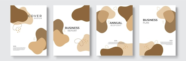 Набор векторных геометрический дизайн портфолио. абстрактная красочная жидкая графическая форма круга градиента на презентации книги обложки. минимальный макет брошюры и современный отчет бизнес флаеры шаблон плаката