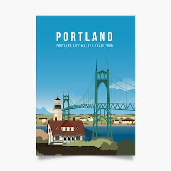 Portland promotional poster template