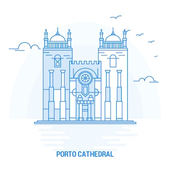 Porto cathedral blue landmark