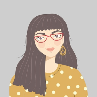 Portrait of a brunette girl