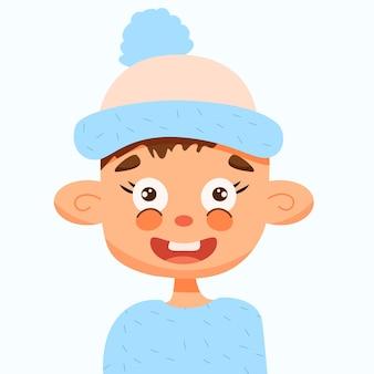 Portrait of a cute boy in a hat