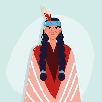 Portrait indigenous elderly woman