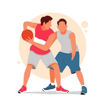 Портрет мужчины, играющего в баскетбол