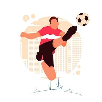 Портрет мужчины, играющего в футбол