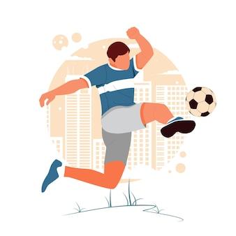 축구하는 남자의 초상화