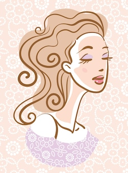 Портрет красивой женщины