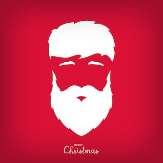 Portrait of santa claus with a beautiful hairdo