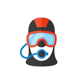 Portrait of a scuba diver.
