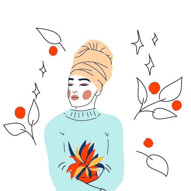 Portrait woman beauty treatment
