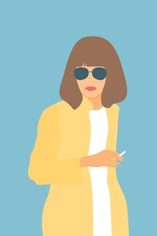 Portrait of woman in sunglasses.