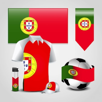 Portugal country flag set