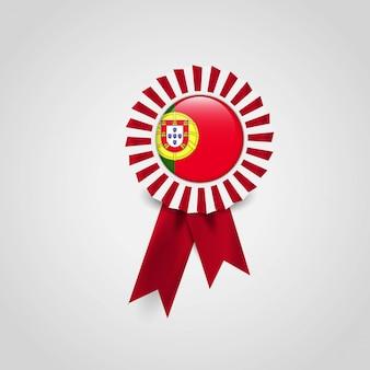 Portugal flag ribbon banner badge
