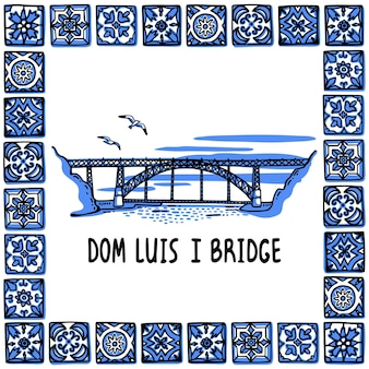 Иллюстрация памятника португалии мост дона луиша i порту