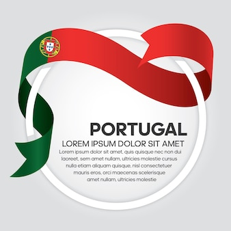 Флаг португалии ленты векторные иллюстрации на белом фоне
