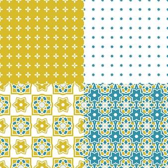 ポルトガル語azulejoタイル。シームレスなパターン。