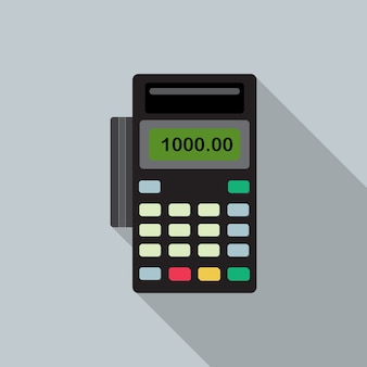 Pos bank payment terminal vector icon for web design.