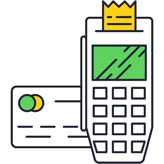 Pos terminal payment machine to pay vector icon