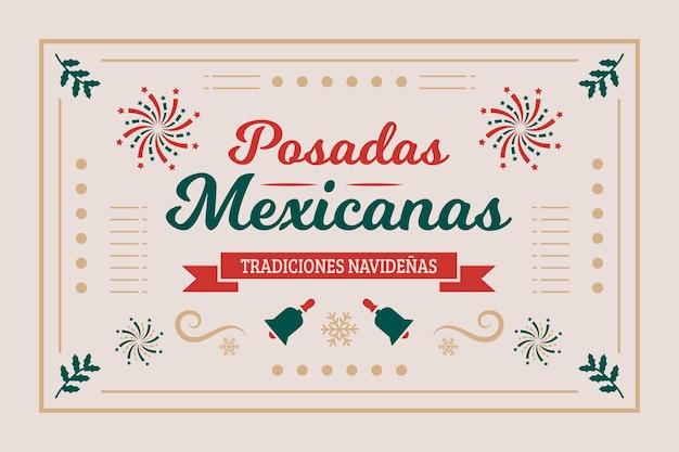 Posadas etichetta messicana sullo sfondo