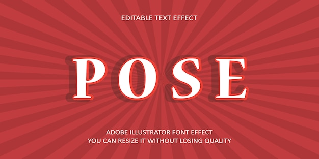 Pose text font effect