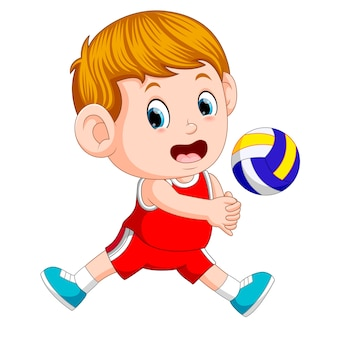 Positions of the volleyball player Premium Vector