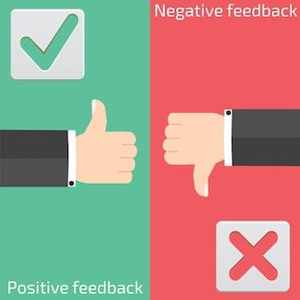 긍정적 인 피드백과 부정적인 피드백
