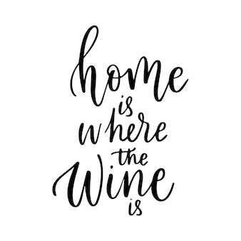 Cafebartshirtホームのポスターのために言っているポジティブな面白いワインはワインがベクトル引用であるところです