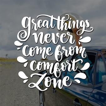 Positive lettering background concept