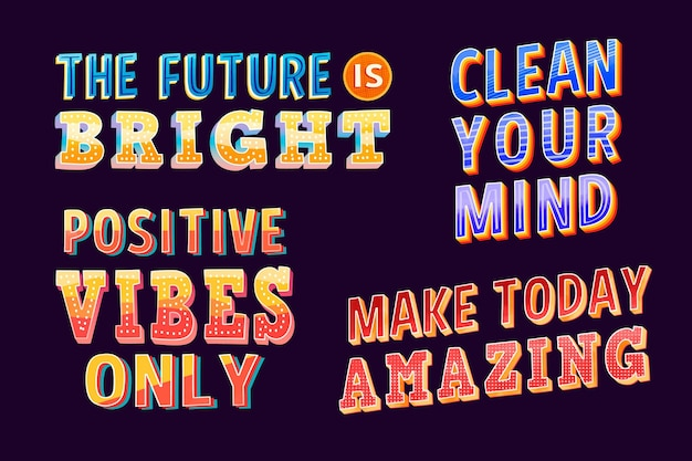 Positive lettering collection