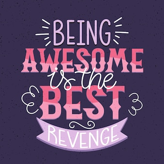Positive lettering quote concept