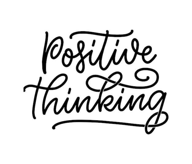 Положительный лозунг надписи с элементами каракули. забавная цитата для блога, плаката и полиграфического дизайна. векторная иллюстрация. векторная иллюстрация