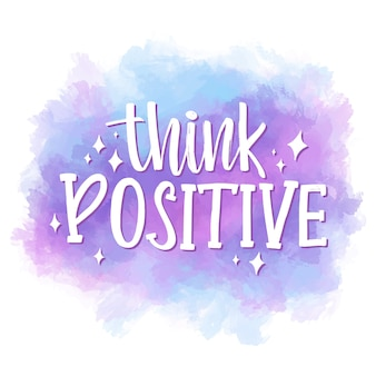 Positive lettering on watercolor stain