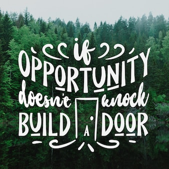 Positive lettering with photo and message