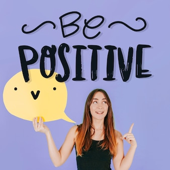 Positive lettering with photo
