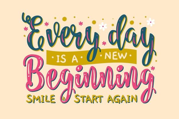 Positive lettering
