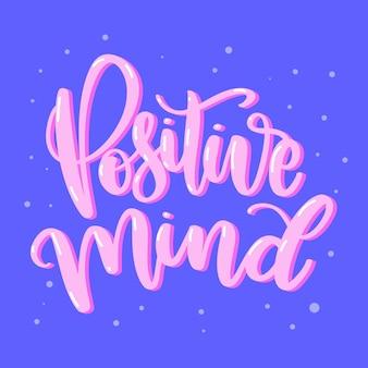Concetto di lettering messaggio positivo