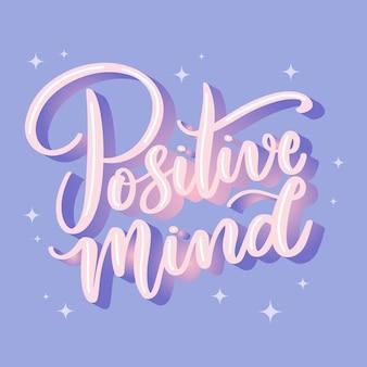 Positive message lettering design
