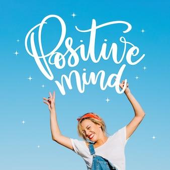 Lettering messaggio positivo