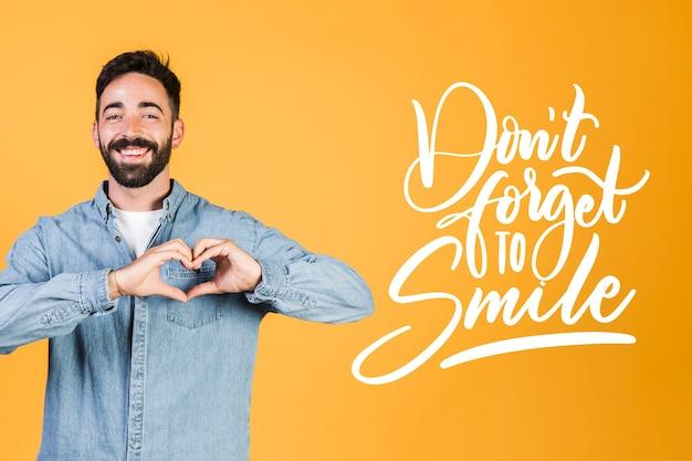 Positive mind lettering concept