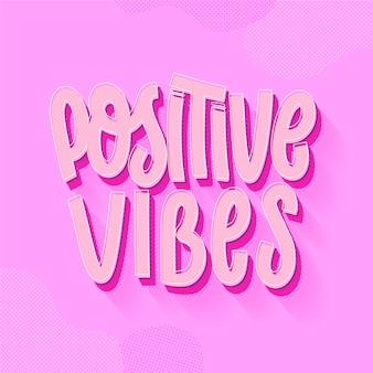Concetto di lettering mente positiva Vettore gratuito