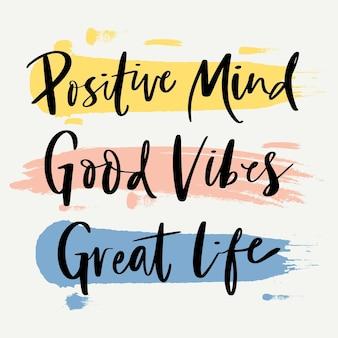 Concetto di lettering mente positiva