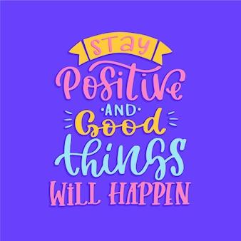 긍정적 인 마음 글자 스타일