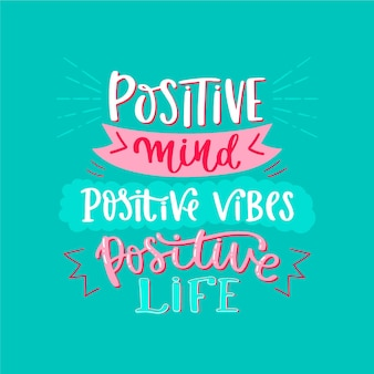 Positive mind lettering theme