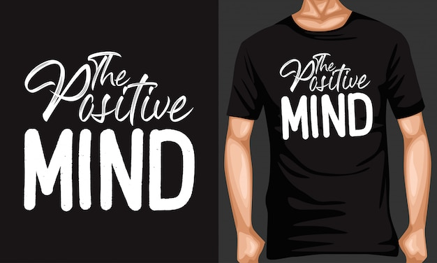 Positive mind lettering typography quotes